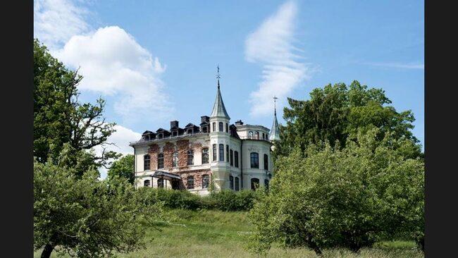 Så här såg Hägerstad slott ut när det låg ute till försäljning...