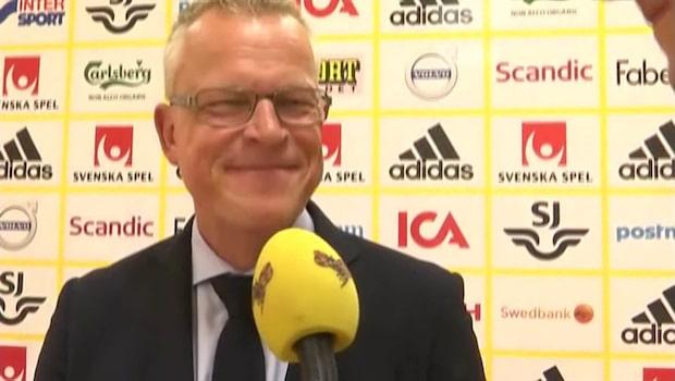 """Janne Andersson om Victor Nilsson Lindelöfs sparsamma speltid: """"En process"""""""