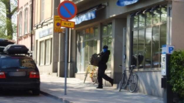 En butik rånades av maskerade och beväpnade personer på fredagen. Foto: Läsarbild