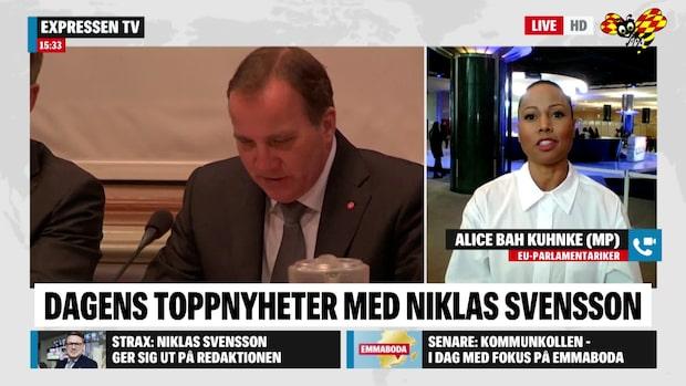 MP-toppen Bah Kuhnke i storbråk med Löfven