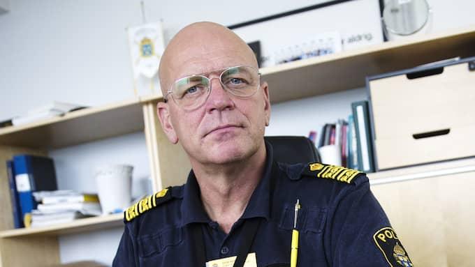Erik Nord, polischef i Storgöteborg, uppmanar allmänheten att ta ledigt från jobbet i samband med EU-toppmötet. Foto: HENRIK JANSSON