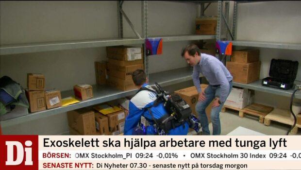 Exoskelett ska hjälpa arbetare med tunga lyft