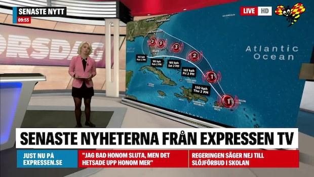 Så drar orkanen Dorian fram mot USA