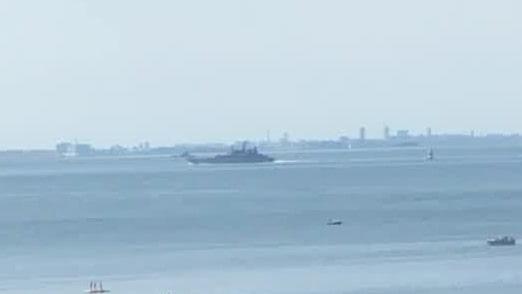 Under onsdagen passerar tre ryska örlogsfartyg genom Öresund