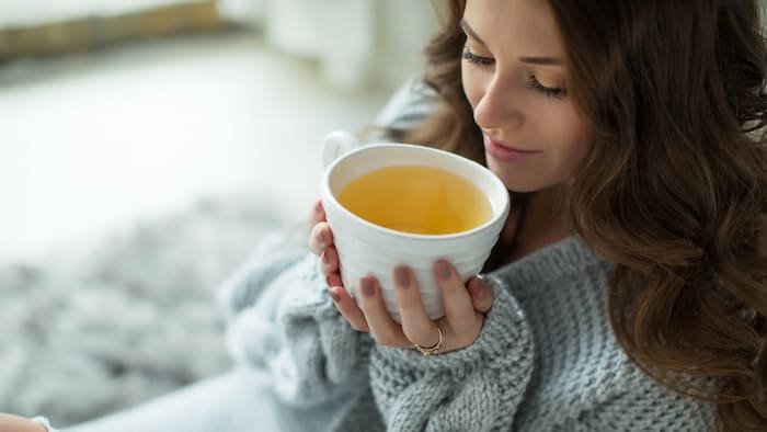 dricka mycket te