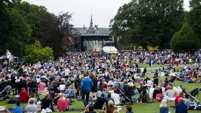Det är ofta så här vi är vana att uppleva Sofiero, som konserterana på sommaren. Foto: TOMAS LEPRINCE