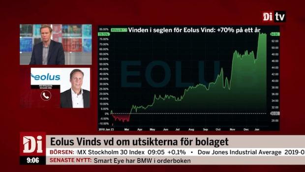 "Eolus Vinds vd: ""Rekordstor orderstock"""