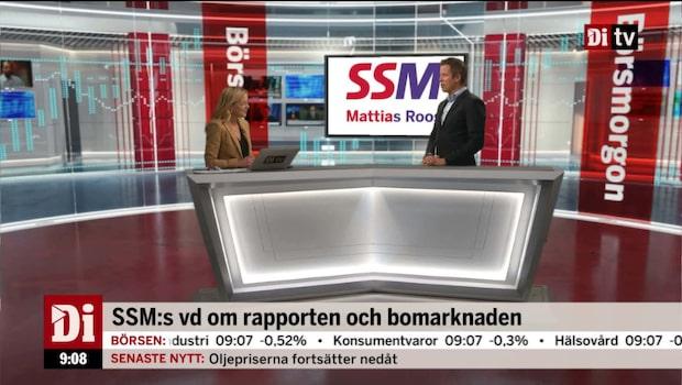 SSM:s vd Roos om rapporten och bomarknaden