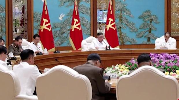 Nordkorea rapporterar sitt första fall av corona