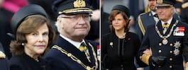 Kungen och drottningen på plats – vid begravning