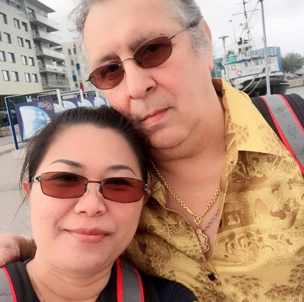 Daniel Cuevas Zuñiga dödades av en handgranat. Här är han tillsammans med sin hustru Wanna Soisaeng. Foto: Privat