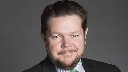Johan Hedin (C), rättspolitisk talesperson. Foto: PRESSBILD