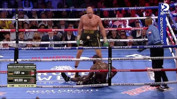 Höjdpunkter: Tyson Fury överlägsen - vann efter sju ronder