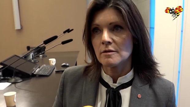 Eva Nordmark (S) pressas om Arbetsförmedlingen