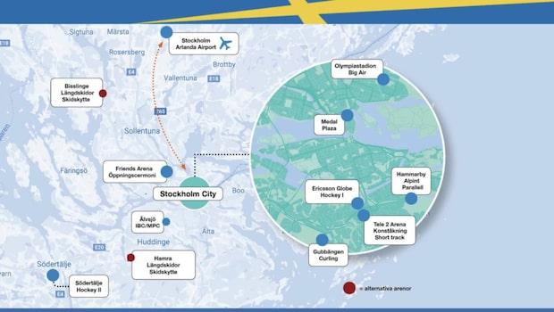 Här är planen för OS i Stockholm 2026 - hela kartan
