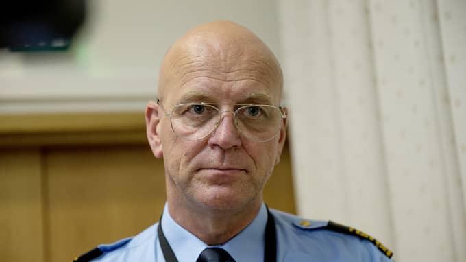 Polischef Erik Nord var missnöjd över de mackor som serverades polisen under EU-kommenderingen. Foto: HENRIK JANSSON / GT/EXPRESSEN