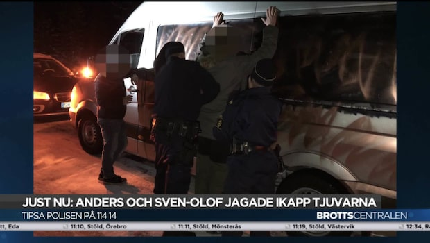 Anders minibuss stals – körde ifatt tjuvarna och band dem