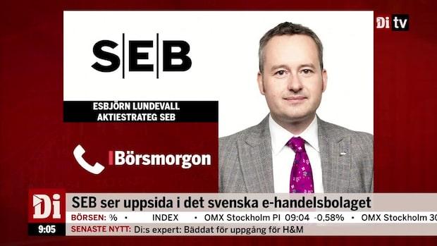 SEB ser uppsida i det svenska e-handelsbolaget