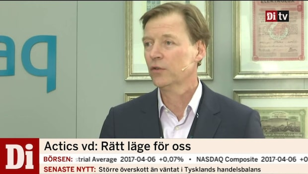 Intervju med nynoterade Actics vd Christer Zaar