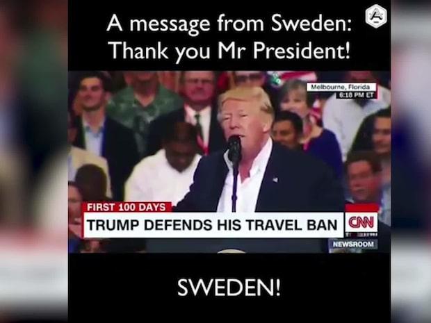 Aron Andersons video-hälsning till Donald Trump