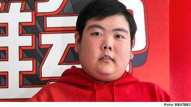 """Qian Zhijun har fått smeknamnet """"Little Fatty"""" - och blivit megakänd på internet."""