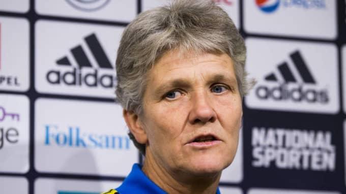 Sveriges förbundskapten Pia Sundhage. Foto: Andreas L Eriksson