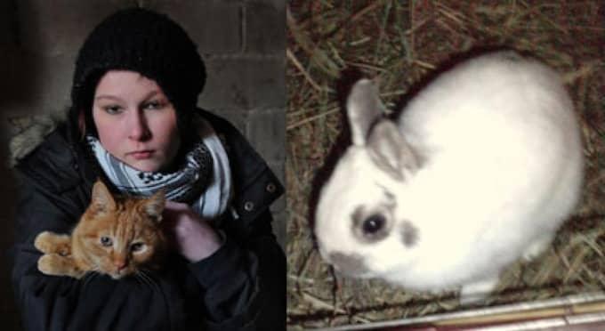 Även om Kajsa har planer på att skaffa sig en ny kanin blir ingenting precis som förr. Tills vidare tröstar hon sig med familjens katt Tiger. Foto: Leif Gustafsson/Privat