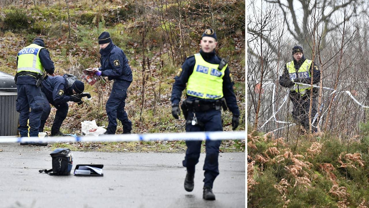 Man hittad knivskuren polisen soker med helikopter