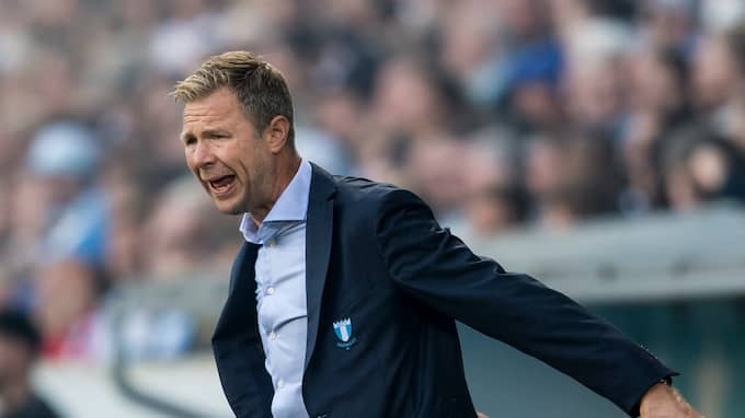 Magnus Pehrsson coacar MFF mot IFK Göteborg på Stadion i Malmö. Foto: PETTER ARVIDSON / BILDBYRÅN