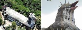 Övergivna kycklingkyrkan ligger mitt i djungeln