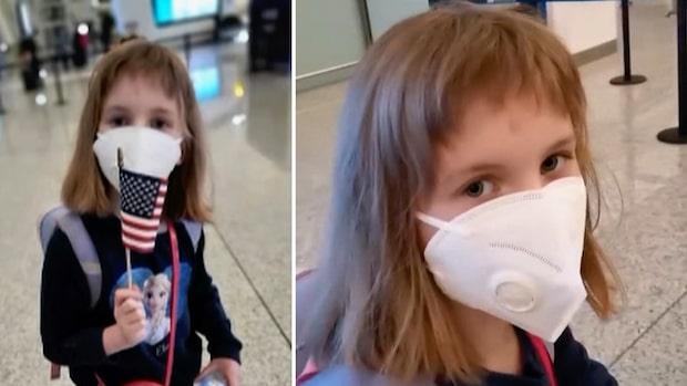 Hermione, 8, lämnades kvar i Wuhan när USA evakuerade