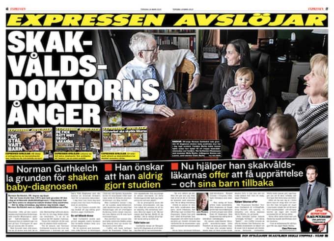 19 mars . Expressen skriver om hur mannen som lade grunden för shaken baby-diagnosen ångrar sig.