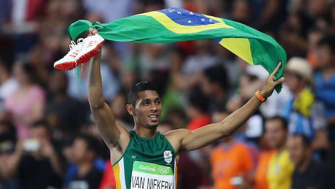 Wayde van Niekerk vann OS-guld i Rio 2016. Nu kommer han till Malmö Games i augusti. Foto: NEWSPIX/REX/SHUTTERSTOCK