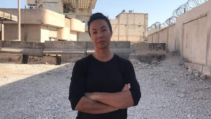 Bild från då Magda Gad var i Raqqa.