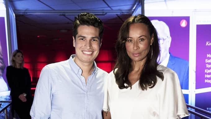 Lotta Grey tillsammans med pojkvännen Jonathan Emparan. Foto: OLLE SPORRONG
