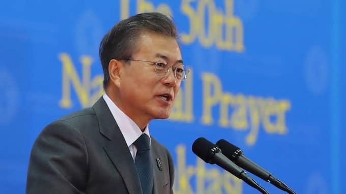 Sydkoreas president Moon Jae-in. Foto: HWANG KWANG-MO / AP TT NYHETSBYRÅN