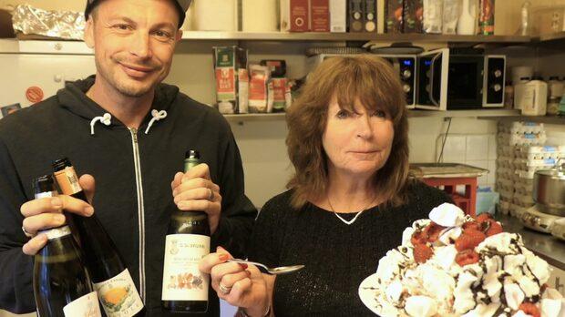Bästa kombinationen - marängsviss och ett glas vin