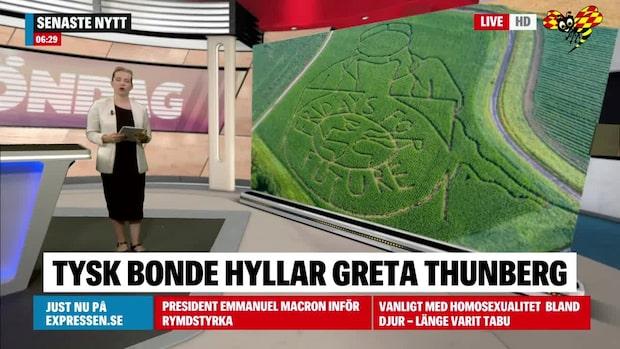 Tyska bondens hyllning till Greta Thunberg