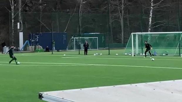 Här tränar Zlatan med Hammarby igen