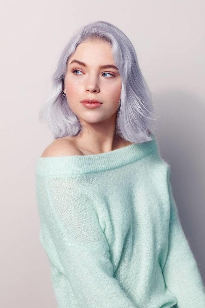 blond frisyr med lugg