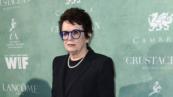 Billie Jean King Foto: RICHARD SHOTWELL / AP TT NYHETSBYRÅN