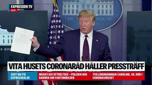 Donald Trump testad negativ för covid-19