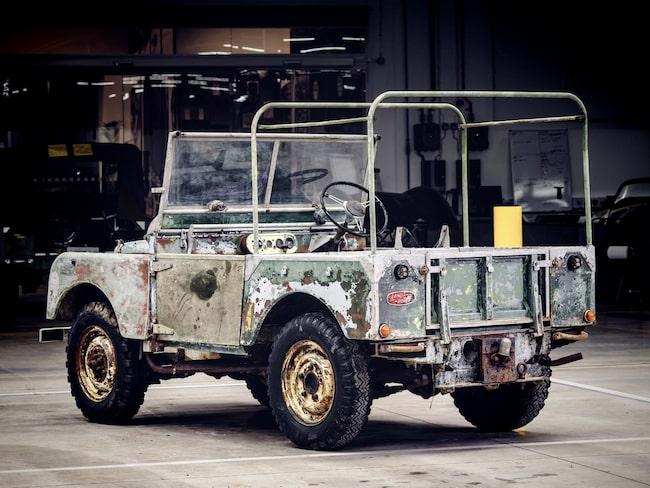 Första exemplaret av Land Rover 4x4 har hittats.