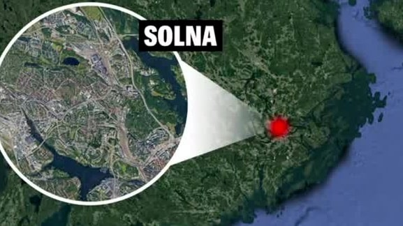 Rånförsök i Solna – offer fick knivhugg i benet