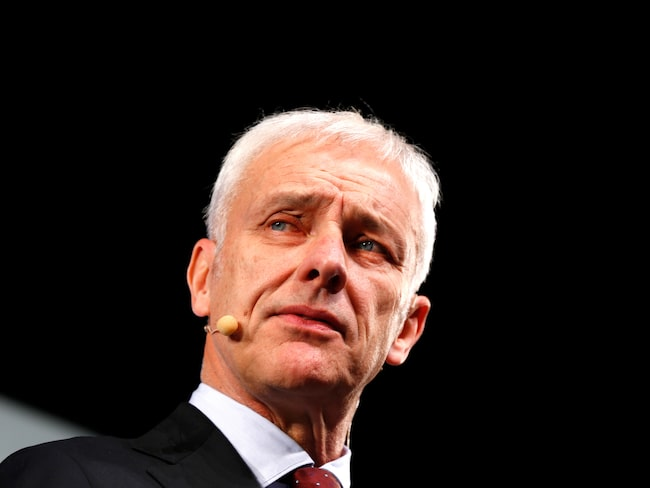 Matthias Müller, snart före detta koncernchef i Volkswagen?