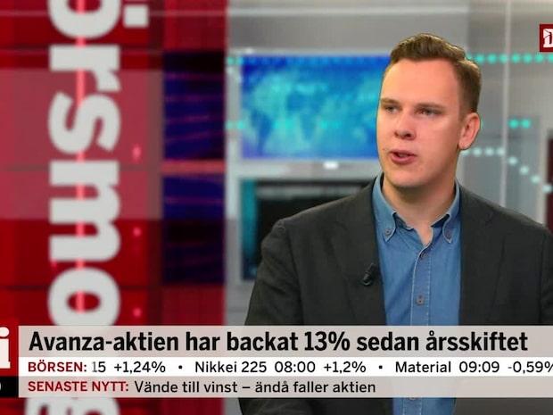 Avanza-aktien har backar 13 % sedan årsskiftet