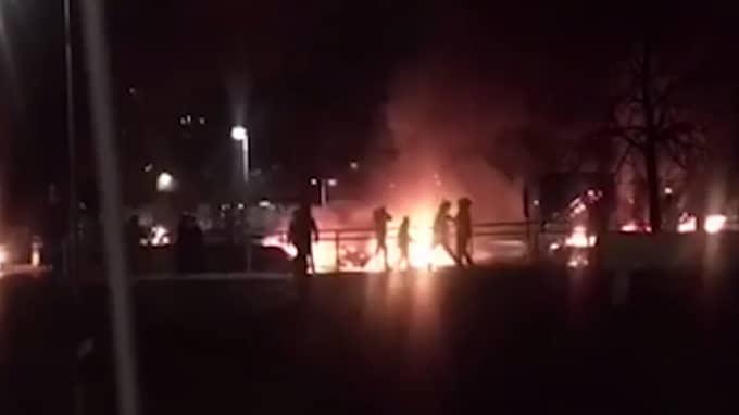 Under februari i år skedde våldsamma upplopp i Rinkeby där polisen kände sig så trängd att man avlossade skott. Foto: LÄSARBILD
