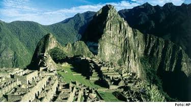 Machu Picchu i Peru - inte Nepal.