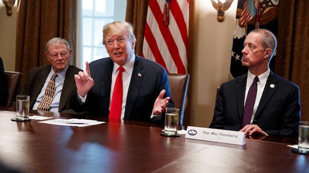 """Trump om gränskritiken: """"Kommer skriva under något"""""""