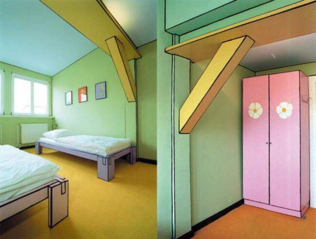 Serieinspirerat rum! Här skulle Jessica Rabbit kunna bo! Rum 306 på Arte Luise Kunsthotel i Berlin.